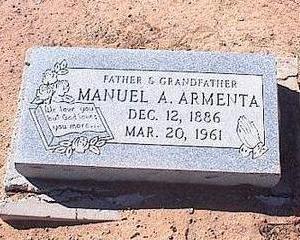 ARMENTA, MANUEL A. - Pinal County, Arizona   MANUEL A. ARMENTA - Arizona Gravestone Photos