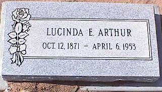 ARTHUR, LUCINDA E. - Pinal County, Arizona | LUCINDA E. ARTHUR - Arizona Gravestone Photos