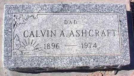 ASHCRAFT, CALVIN A. - Pinal County, Arizona | CALVIN A. ASHCRAFT - Arizona Gravestone Photos