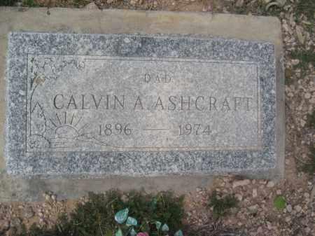 ASHCRAFT, CALVIN A. - Pinal County, Arizona   CALVIN A. ASHCRAFT - Arizona Gravestone Photos