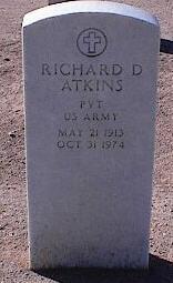 ATKINS, RICHARD D. - Pinal County, Arizona | RICHARD D. ATKINS - Arizona Gravestone Photos