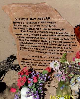 AVELAR, STEVEN RAY - Pinal County, Arizona | STEVEN RAY AVELAR - Arizona Gravestone Photos