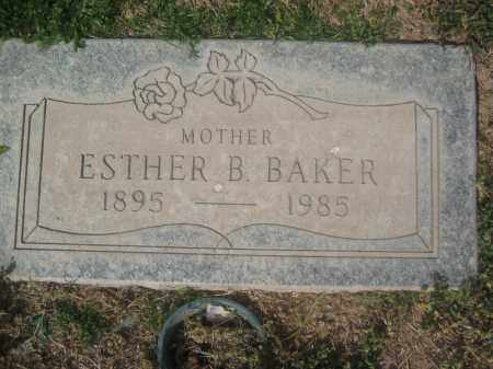 BAKER, ESTHER B. - Pinal County, Arizona | ESTHER B. BAKER - Arizona Gravestone Photos