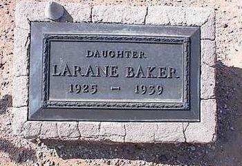 BAKER, LARANE - Pinal County, Arizona | LARANE BAKER - Arizona Gravestone Photos