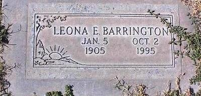 BARRINGTON, LEONA E. - Pinal County, Arizona | LEONA E. BARRINGTON - Arizona Gravestone Photos