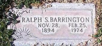 BARRINGTON, RALPH S. - Pinal County, Arizona | RALPH S. BARRINGTON - Arizona Gravestone Photos