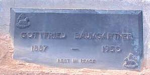 BAUMGARTNER, GOTTFRIED - Pinal County, Arizona | GOTTFRIED BAUMGARTNER - Arizona Gravestone Photos