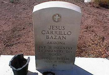 BAZAN, JESUS CARRILLO - Pinal County, Arizona | JESUS CARRILLO BAZAN - Arizona Gravestone Photos