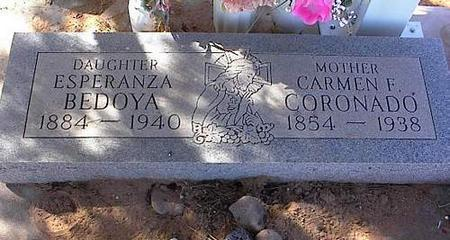 CORONADO BEDOYA, ESPERANZA - Pinal County, Arizona | ESPERANZA CORONADO BEDOYA - Arizona Gravestone Photos
