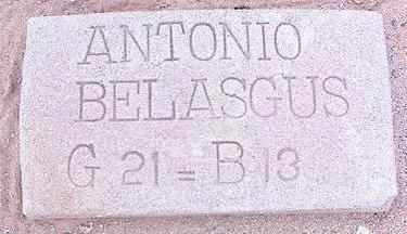 BELASGUS, ANTONIO - Pinal County, Arizona   ANTONIO BELASGUS - Arizona Gravestone Photos