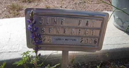 BENEDICT, JUNE FAY - Pinal County, Arizona | JUNE FAY BENEDICT - Arizona Gravestone Photos