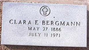 BERGMANN, CLARA E. - Pinal County, Arizona | CLARA E. BERGMANN - Arizona Gravestone Photos