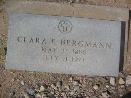 BERGMANN, CLARA E. - Pinal County, Arizona   CLARA E. BERGMANN - Arizona Gravestone Photos