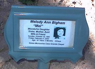BIGHAM, MELODY ANN - Pinal County, Arizona   MELODY ANN BIGHAM - Arizona Gravestone Photos