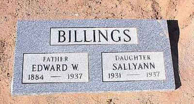 BILLINGS, EDWARD W. - Pinal County, Arizona | EDWARD W. BILLINGS - Arizona Gravestone Photos