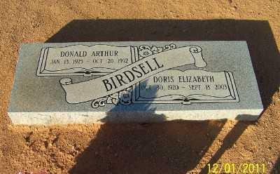 CURTIS BIRDSELL, DORIS ELIZABETH - Pinal County, Arizona | DORIS ELIZABETH CURTIS BIRDSELL - Arizona Gravestone Photos