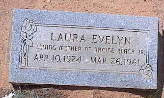 BLACK, LAURA EVELYN - Pinal County, Arizona   LAURA EVELYN BLACK - Arizona Gravestone Photos