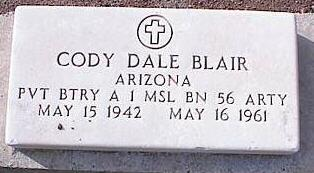 BLAIR, CODY DALE - Pinal County, Arizona | CODY DALE BLAIR - Arizona Gravestone Photos