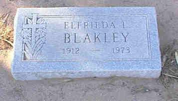 BLAKLEY, ELFRIEDA L. - Pinal County, Arizona | ELFRIEDA L. BLAKLEY - Arizona Gravestone Photos