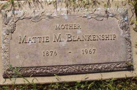 BLANKENSHIP, MATTIE M. - Pinal County, Arizona | MATTIE M. BLANKENSHIP - Arizona Gravestone Photos