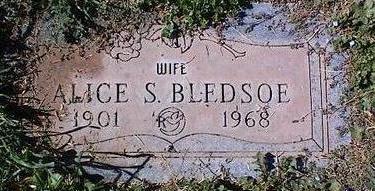 BLEDSOE, ALICE S. - Pinal County, Arizona | ALICE S. BLEDSOE - Arizona Gravestone Photos
