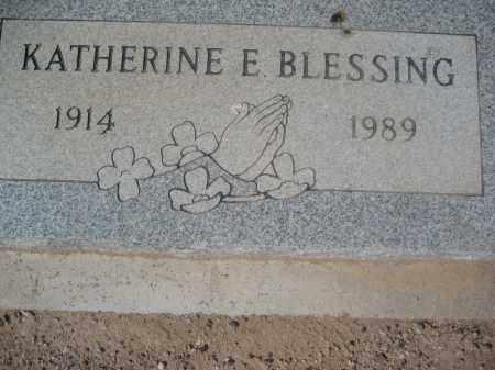 BLESSING, KATHERINE E. - Pinal County, Arizona | KATHERINE E. BLESSING - Arizona Gravestone Photos