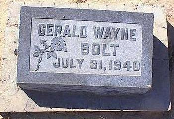 BOLT, GERALD WAYNE - Pinal County, Arizona | GERALD WAYNE BOLT - Arizona Gravestone Photos