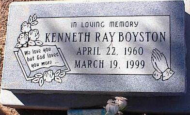 BOYSTON, KENNETH RAY - Pinal County, Arizona   KENNETH RAY BOYSTON - Arizona Gravestone Photos