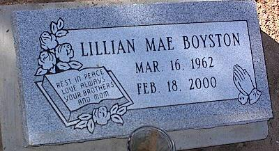 BOYSTON, LILLIAN MAE - Pinal County, Arizona | LILLIAN MAE BOYSTON - Arizona Gravestone Photos