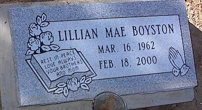 BOYSTON, LILLIAN MAE - Pinal County, Arizona | LILLIAN MAE BOYSTON - Arizona Gravestone Photos