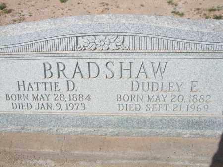 BRADSHAW, HATTIE D. - Pinal County, Arizona   HATTIE D. BRADSHAW - Arizona Gravestone Photos
