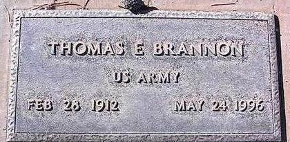 BRANNON, THOMAS E. - Pinal County, Arizona   THOMAS E. BRANNON - Arizona Gravestone Photos
