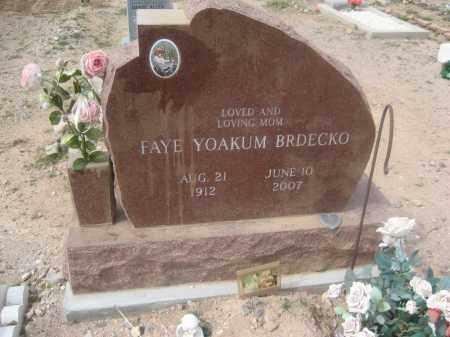 BRDECKO, FAYE YOAKUM - Pinal County, Arizona | FAYE YOAKUM BRDECKO - Arizona Gravestone Photos
