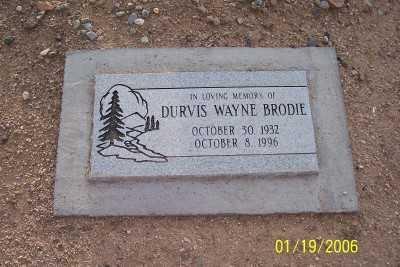 BRODIE, DURVIS WAYNE - Pinal County, Arizona | DURVIS WAYNE BRODIE - Arizona Gravestone Photos