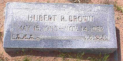 BROWN, HUBERT R. - Pinal County, Arizona | HUBERT R. BROWN - Arizona Gravestone Photos