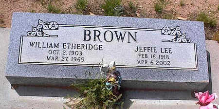 BROWN, JEFFIE LEE - Pinal County, Arizona | JEFFIE LEE BROWN - Arizona Gravestone Photos