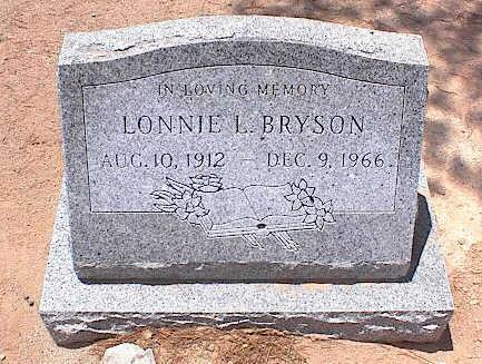 BRYSON, LONNIE L. - Pinal County, Arizona   LONNIE L. BRYSON - Arizona Gravestone Photos