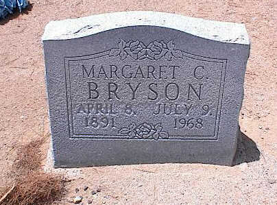 BRYSON, MARGARET C. - Pinal County, Arizona   MARGARET C. BRYSON - Arizona Gravestone Photos