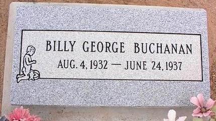 BUCHANAN, BILLY GEORGE - Pinal County, Arizona   BILLY GEORGE BUCHANAN - Arizona Gravestone Photos