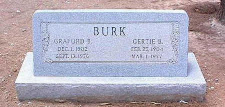 BURK, GERTIE B. - Pinal County, Arizona | GERTIE B. BURK - Arizona Gravestone Photos