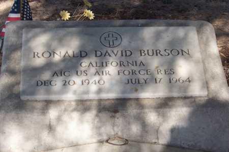 BURSON, RONALD DAVID - Pinal County, Arizona | RONALD DAVID BURSON - Arizona Gravestone Photos