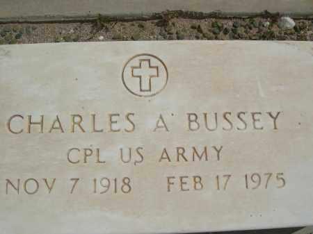 BUSSEY, CHARLES A. - Pinal County, Arizona   CHARLES A. BUSSEY - Arizona Gravestone Photos