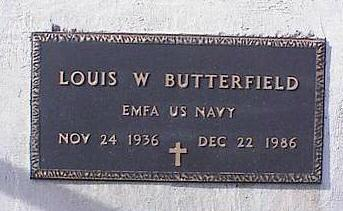 BUTTERFIELD, LOUIS W. - Pinal County, Arizona | LOUIS W. BUTTERFIELD - Arizona Gravestone Photos
