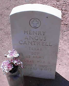 CANTRELL, HENRY ANCUS [WORLD WAR II] - Pinal County, Arizona | HENRY ANCUS [WORLD WAR II] CANTRELL - Arizona Gravestone Photos