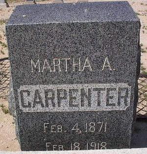 CARPENTER, MARTHA A. - Pinal County, Arizona | MARTHA A. CARPENTER - Arizona Gravestone Photos