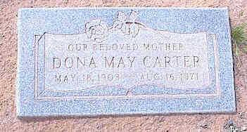 CARTER, DONA MAY - Pinal County, Arizona | DONA MAY CARTER - Arizona Gravestone Photos