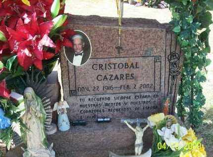 CAZARES, CRISTOBAL - Pinal County, Arizona | CRISTOBAL CAZARES - Arizona Gravestone Photos