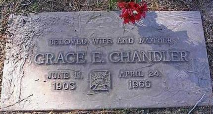CHANDLER, GRACE E. - Pinal County, Arizona | GRACE E. CHANDLER - Arizona Gravestone Photos
