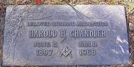 CHANDLER, HAROLD H. - Pinal County, Arizona | HAROLD H. CHANDLER - Arizona Gravestone Photos