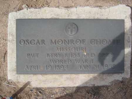 CHOATE, OSCAR MONROE - Pinal County, Arizona | OSCAR MONROE CHOATE - Arizona Gravestone Photos